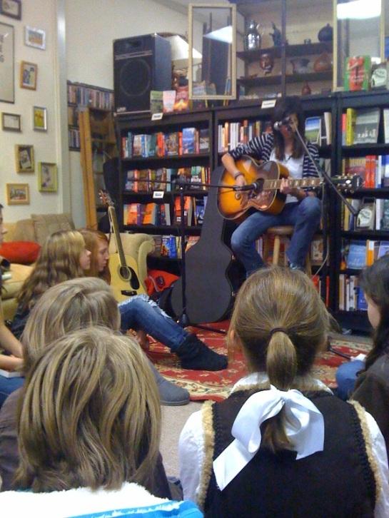 The girls enjoyed a concert by Micah Em McCoolia Walker