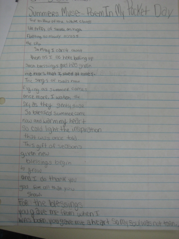 Poetry Lessons 2011 (6/6)