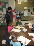 Ms. Melissa assists Prek poets