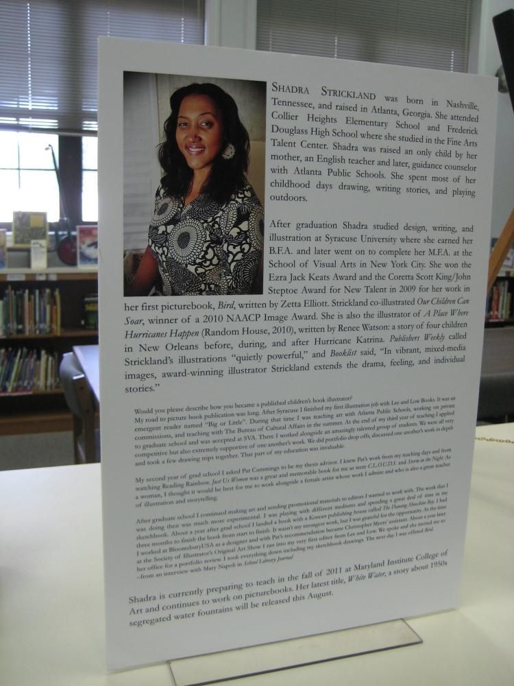 Ashley Bryan Traveling Exhibit of Illustrated Africana Children's Literature featuring Shadra Strickland (2/2)
