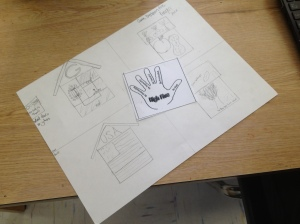 Students designed on paper before using Google Sketchup