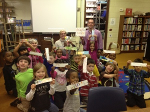 Our students are read to send their bookmarks to Iowa