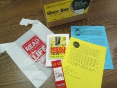 In the bag: A letter about World Book Night, discussion guide, Wimpy Kid bookmark, and Middle School the Worst Years of My Life