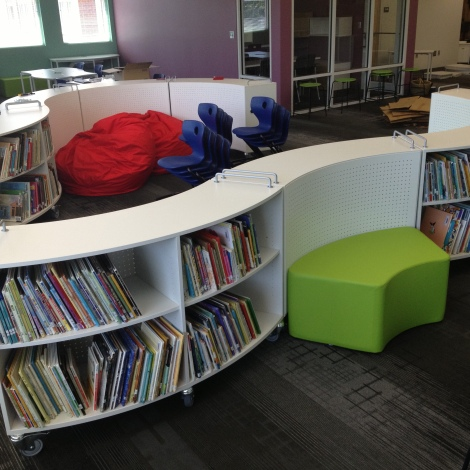 One curve of the Everybody section. Soft seating fits in the curves.