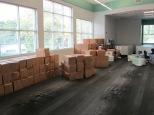 Mounds of boxes to sort and unpack