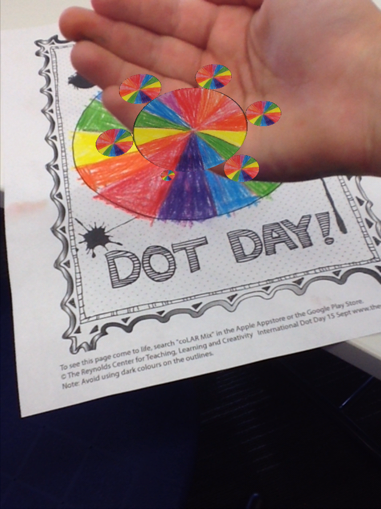 Dot day fun with colar mix app barrow media center for Colar mix coloring pages