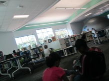 Star lab, checkout, computer/iPads were all used simultaneously in our space