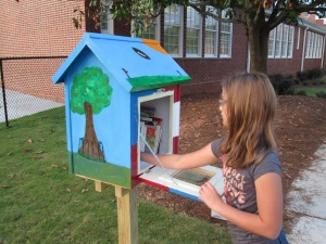 Refilling the Barrow Little Free Library