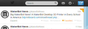 MakerBot News (MakerBotNews) on Twitter