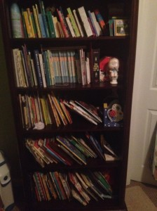 Anderson's bookshelf (age 20 months)