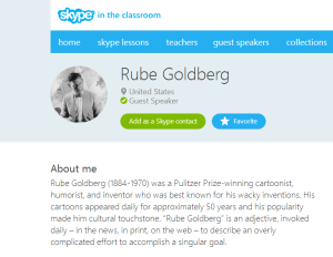 Rube Goldberg   Skype in the classroom