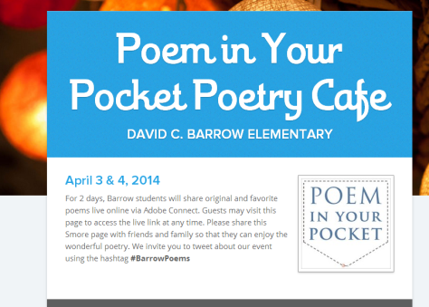 Poem in Your Pocket Poetry Cafe   Smore