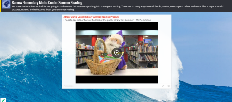 Barrow Elementary Media Center Summer Reading