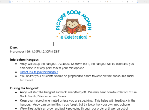 Picture Book Smackdown Notes   Google Docs