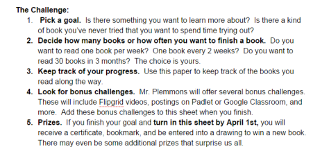 2015 Barrow Reading Challenge   Google Docs challenge