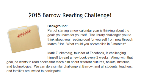 2015 Barrow Reading Challenge   Google Docs