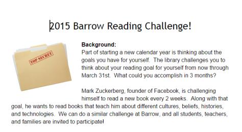 2015 Barrow Reading Challenge   Google Docs