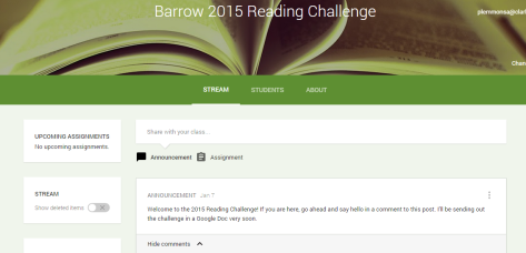 Barrow 2015 Reading Challenge