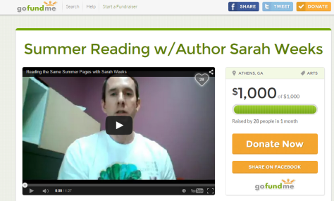 Summer Reading w Author Sarah Weeks by Andy Plemmons   GoFundMe